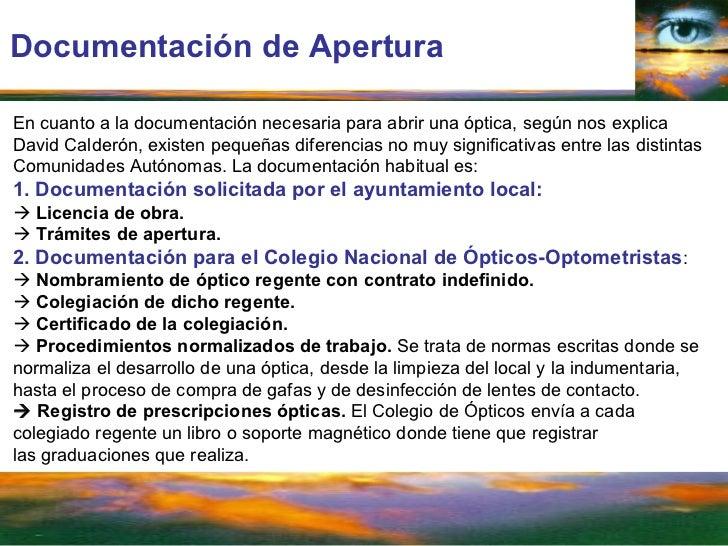 Plan de negocio optica for Diferencia entre licencia de apertura y licencia de actividad