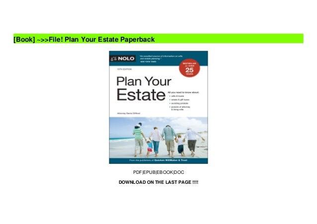 ~>>File! Plan Your Estate Paperback Slide 2