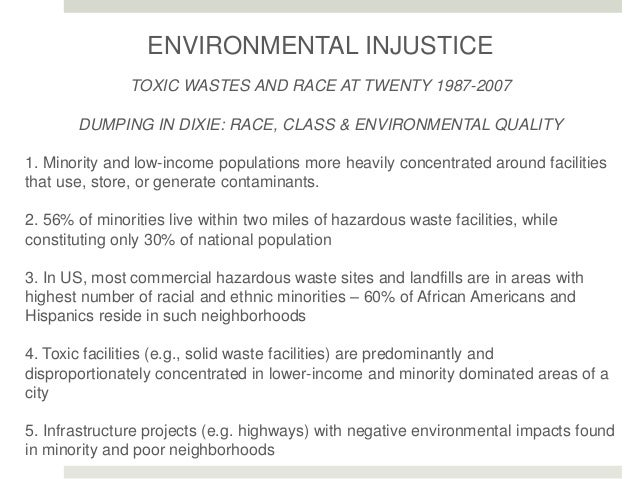 dumping in dixie race class and environmental quality pdf