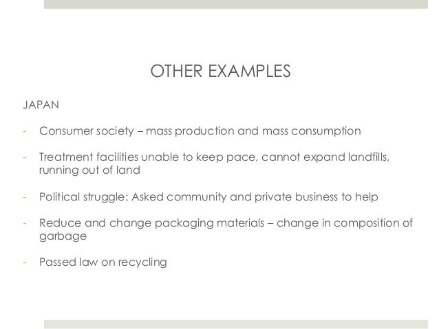 Sustainable Cities: Solid Waste Management