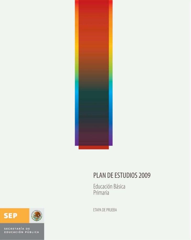 plan de estudios 2009 educacion basica primaria
