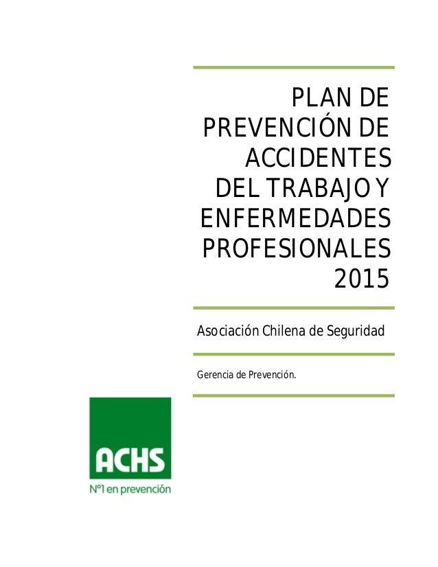 Plan de Prevención de Riesgos AChS 2015