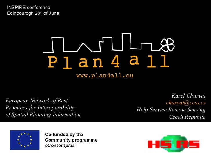 Co-funded by the  Community programme e Content plus  European Network of Best Practices for Interoperability of Spatial P...