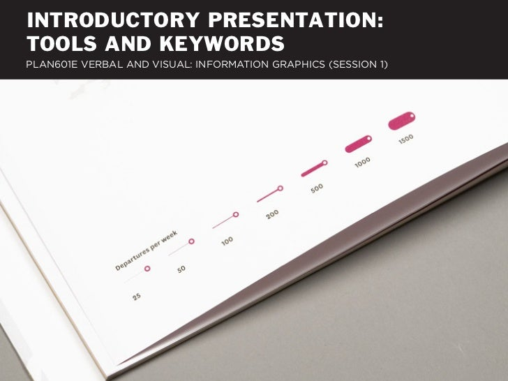 INTRODUCTORY PRESENTATION:TOOLS AND KEYWORDSPLAN601E VERBAL AND VISUAL: INFORMATION GRAPHICS (SESSION 1)