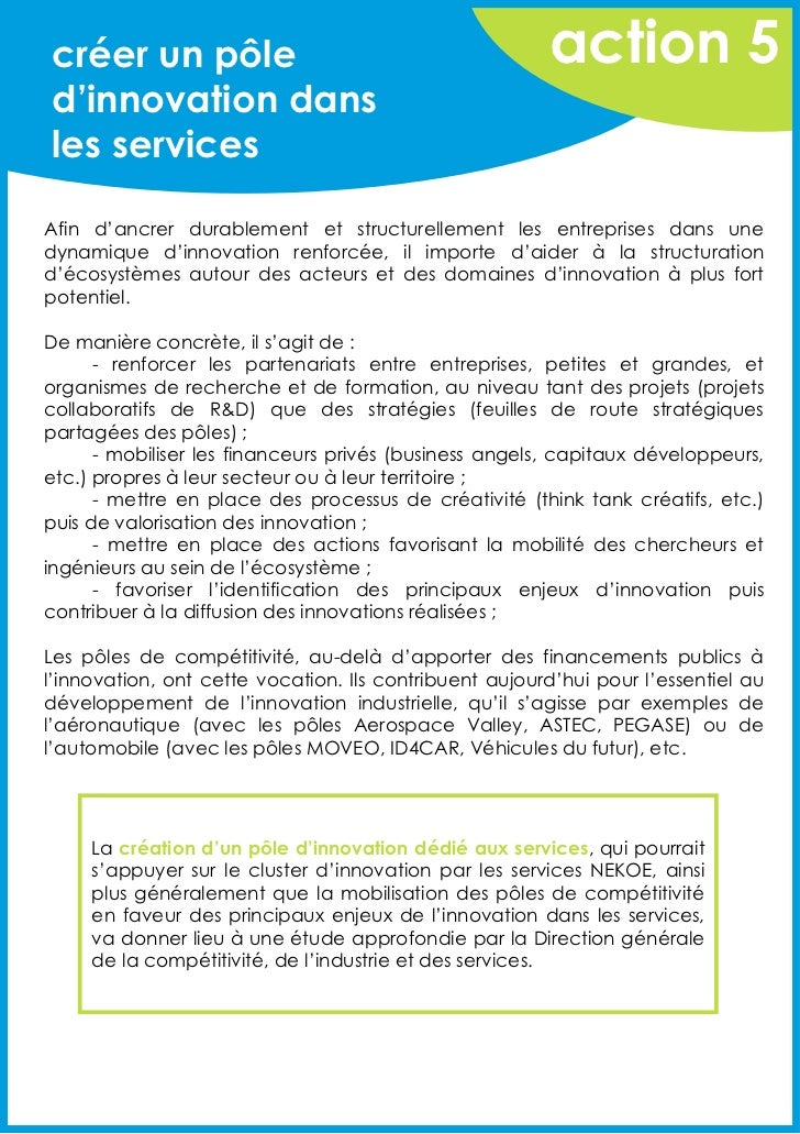 créer un pôle                                           action 5d'innovation dansles servicesAfin d'ancrer durablement et ...