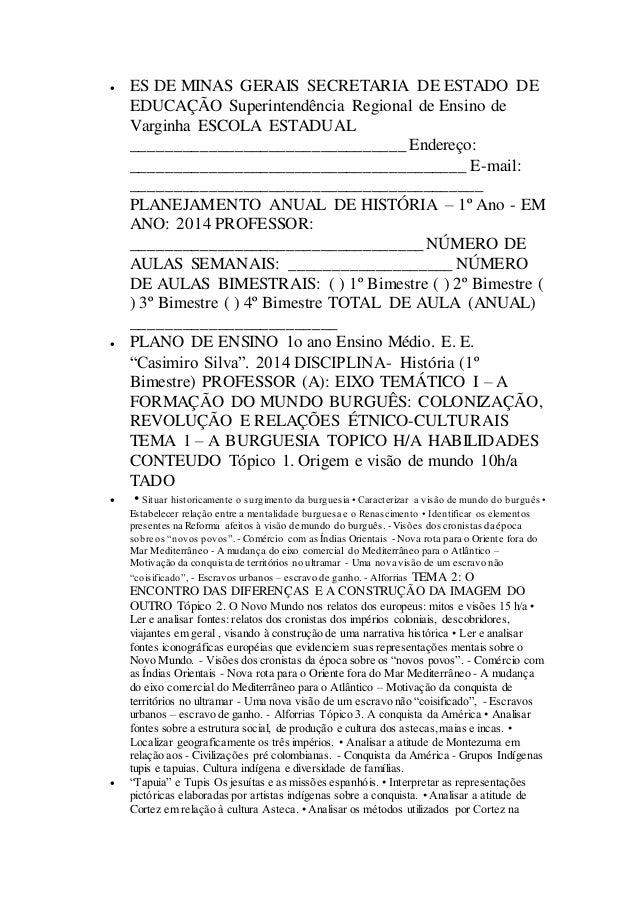  ES DE MINAS GERAIS SECRETARIA DE ESTADO DE  EDUCAÇÃO Superintendência Regional de Ensino de  Varginha ESCOLA ESTADUAL  _...