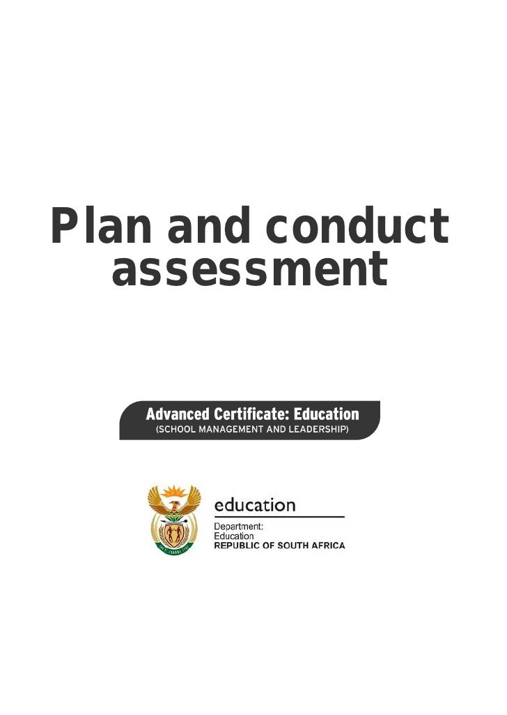 Plan and conduct   assessment