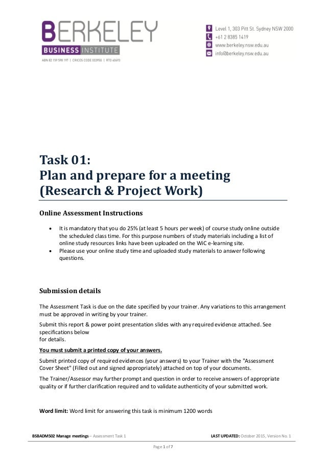 bus bsbadm502b assessment 1 Of bsbadm502b manage meetings assessment answers it takes me 76 hours just to get the right download link, and another 6 hours to validate it.