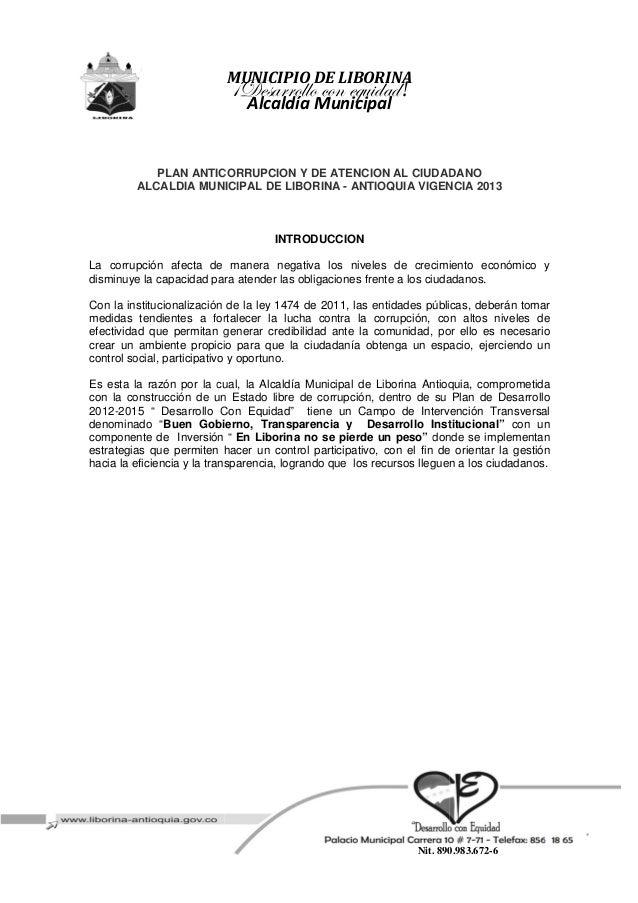MUNICIPIO DE LIBORINA                            'WxátÜÜÉÄÄÉ vÉÇ xÖâ|wtw!                               Alcaldía Municipal...