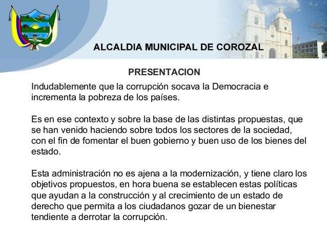 Plan anticorrupcion y de atencion al ciudadano corozal mejorado Slide 2