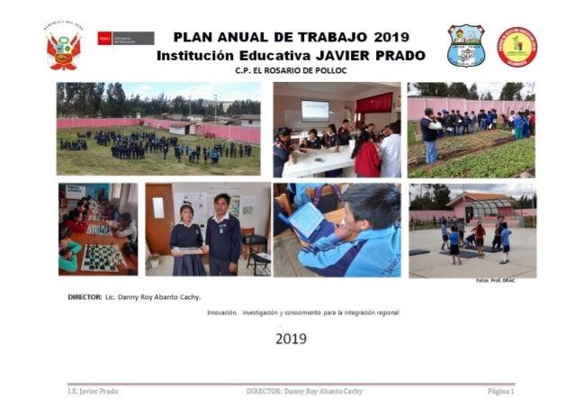 I.E. Javier Prado DIRECTOR: Danny Roy Abanto Cachy Página 1