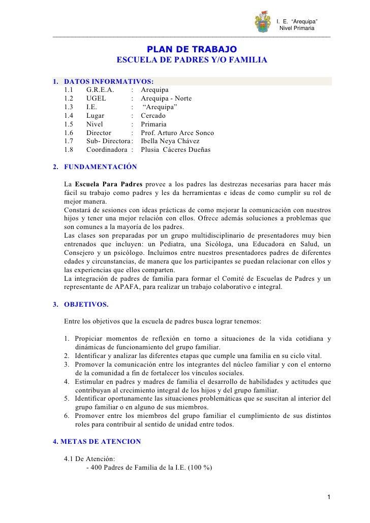 "I. E. ""Arequipa""                                                                             Nivel Primaria ______________..."