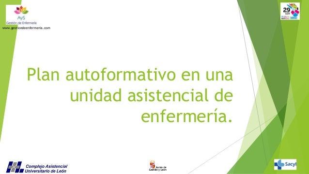 www.gestiondeenfermeria.com  Plan autoformativo en una unidad asistencial de enfermería.