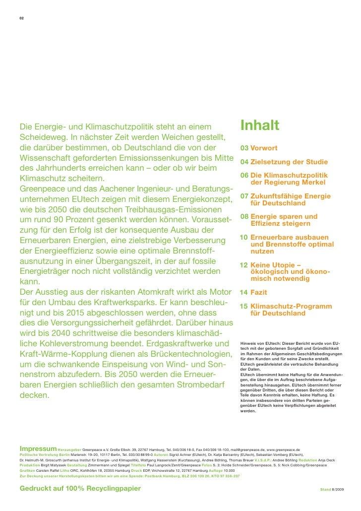 Klimaschutz: Plan B 2050 (Kurzfassung) Slide 2