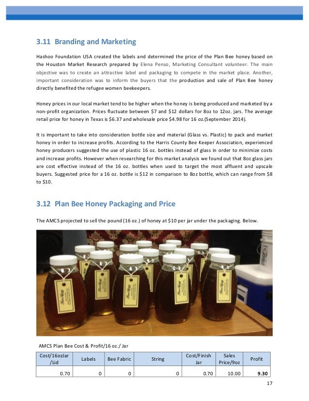 Starting a Honey Production Business – Sample Business Plan Template