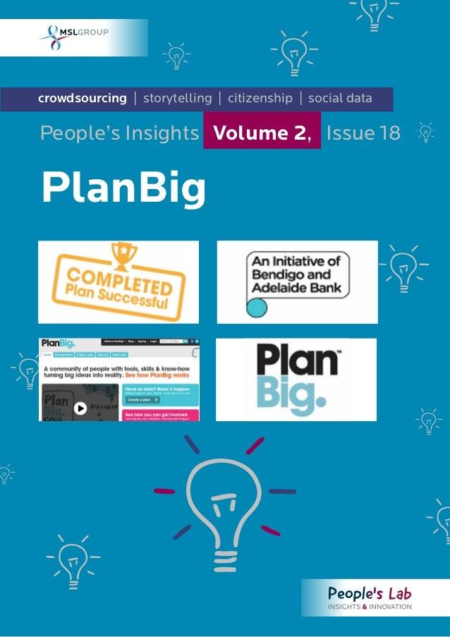 PlanBig: People's Insights Volume 2, Issue 18