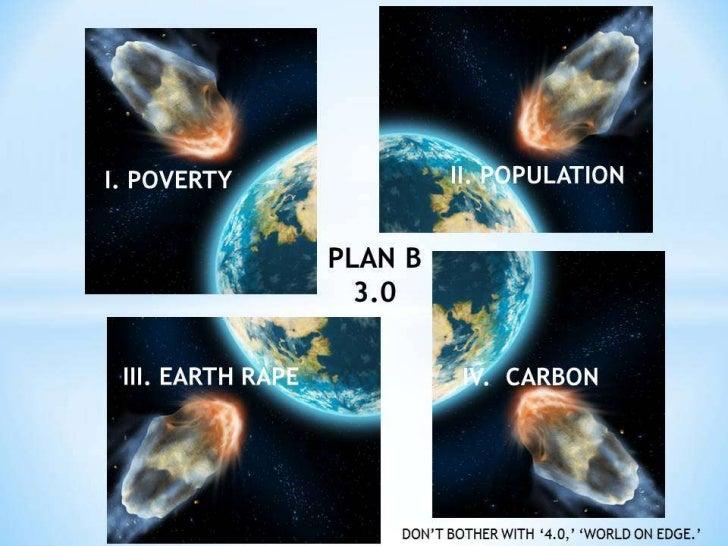 * B. Creation Collapsing as 1 POVERTY, II POPULATION, III RESOURCE RAPE, IV CARBON Collide. C6.