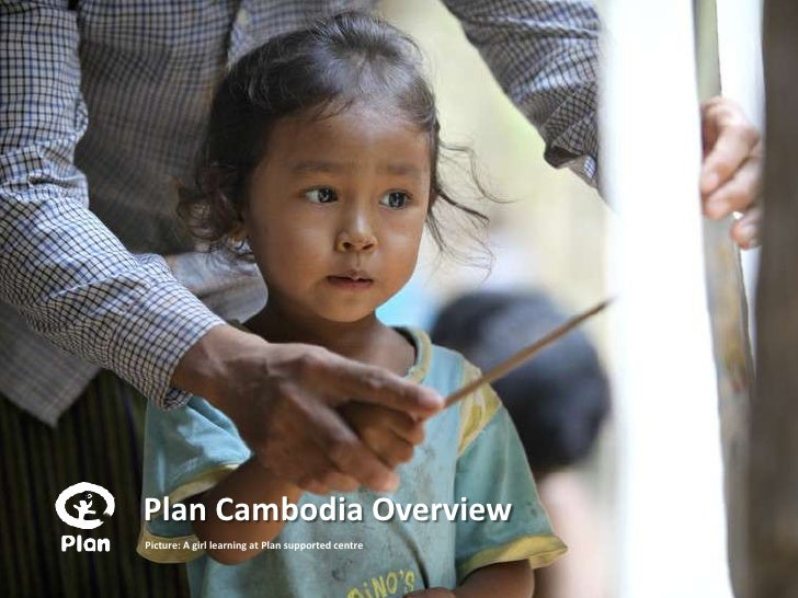 Plan Cambodia OverviewPicture: A girl learning at Plan supported centre