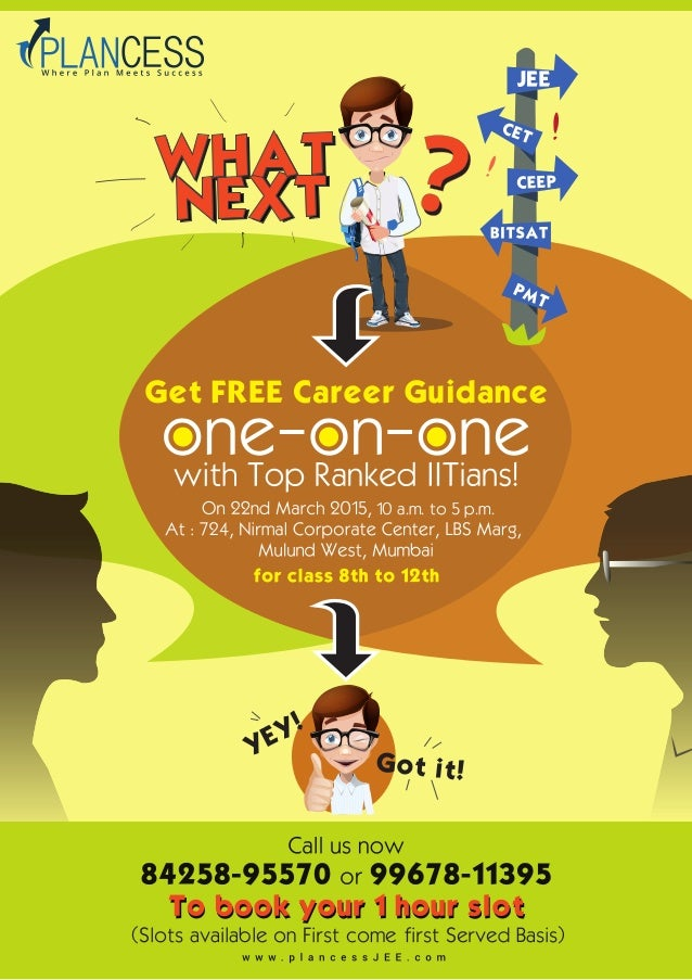 Plancess Offering Free Career Counselling Session With An Iitian