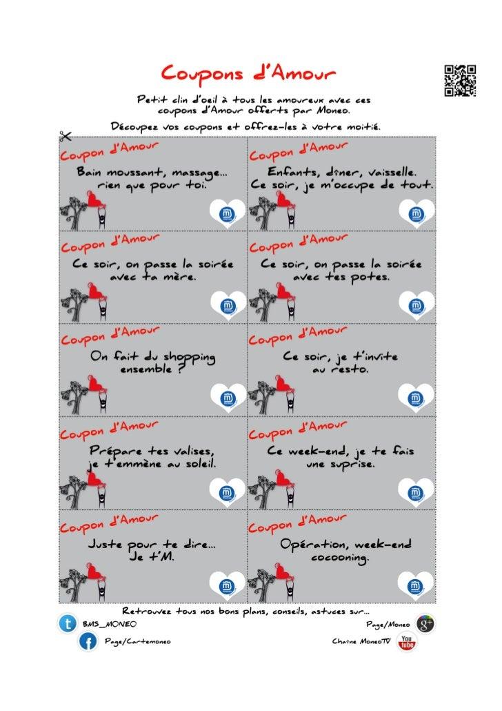Planche coupons d 39 amour st valentin - Un amour de tapis code promo ...