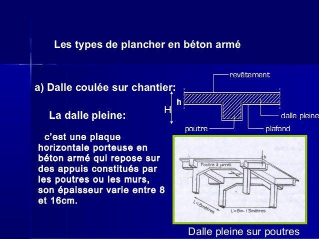 Planchers et parois de s paration for Beton coule en place