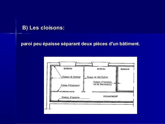 Planchers Et Parois De S Paration