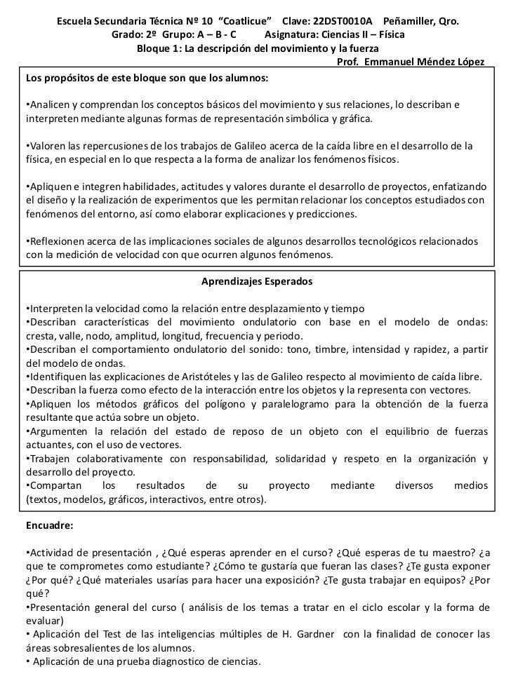 "Escuela Secundaria Técnica Nº 10 ""Coatlicue"" Clave: 22DST0010A Peñamiller, Qro.                  Grado: 2º Grupo: A – B - ..."