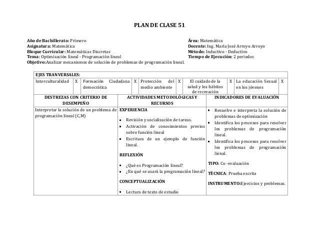 Plan clase diario
