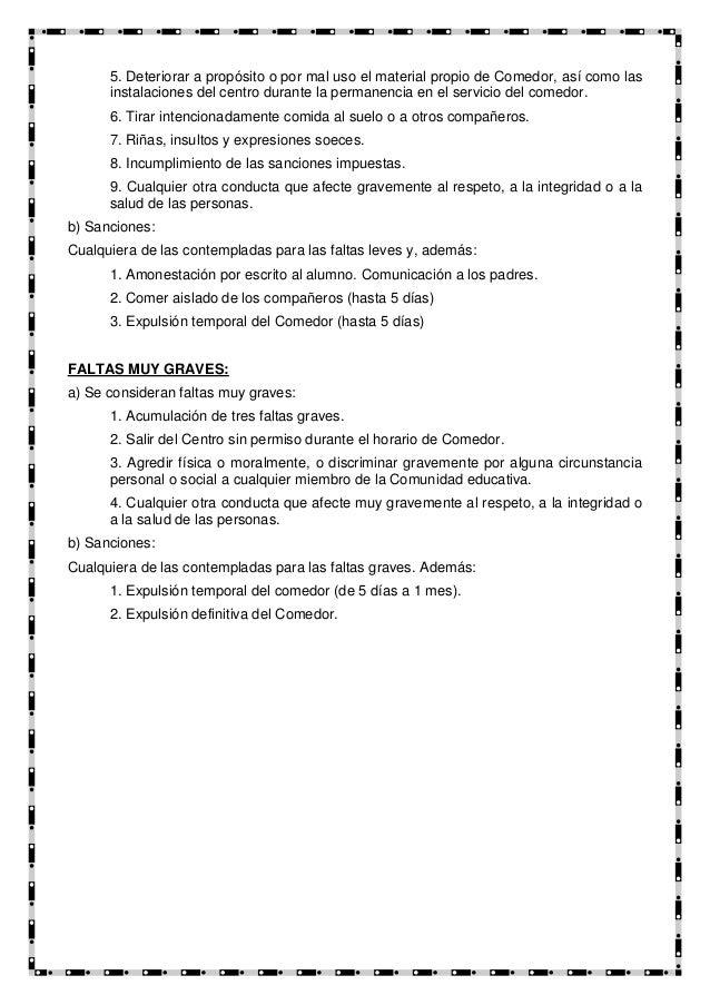 Plan comedor escolar for Proposito del comedor buffet