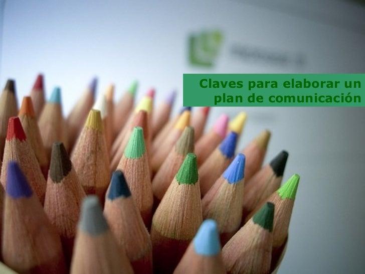 Claves para elaborar un plan de comunicación