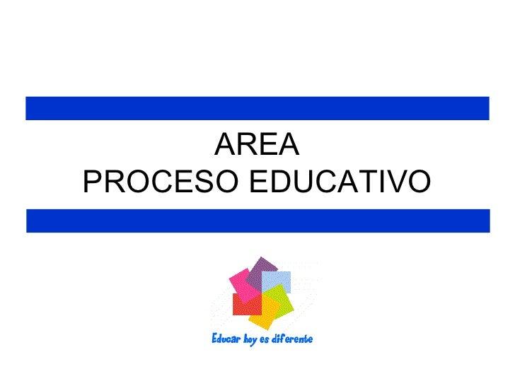 AREA PROCESO EDUCATIVO
