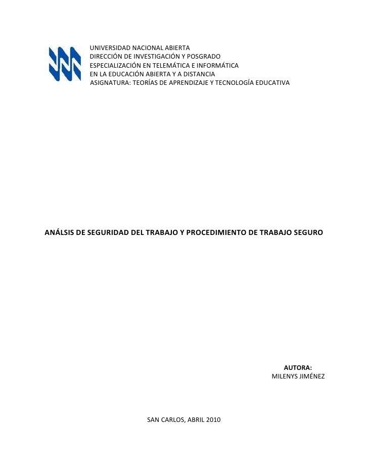 2921070485UNIVERSIDAD NACIONAL ABIERTA<br />DIRECCIÓN DE INVESTIGACIÓN Y POSGRADO<br />ESPECIALIZACIÓN EN TELEMÁTICA E INF...