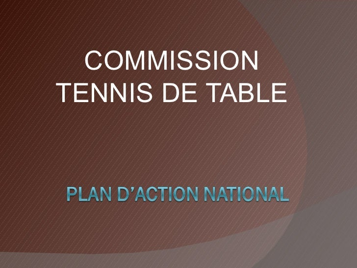 COMMISSION TENNIS DE TABLE
