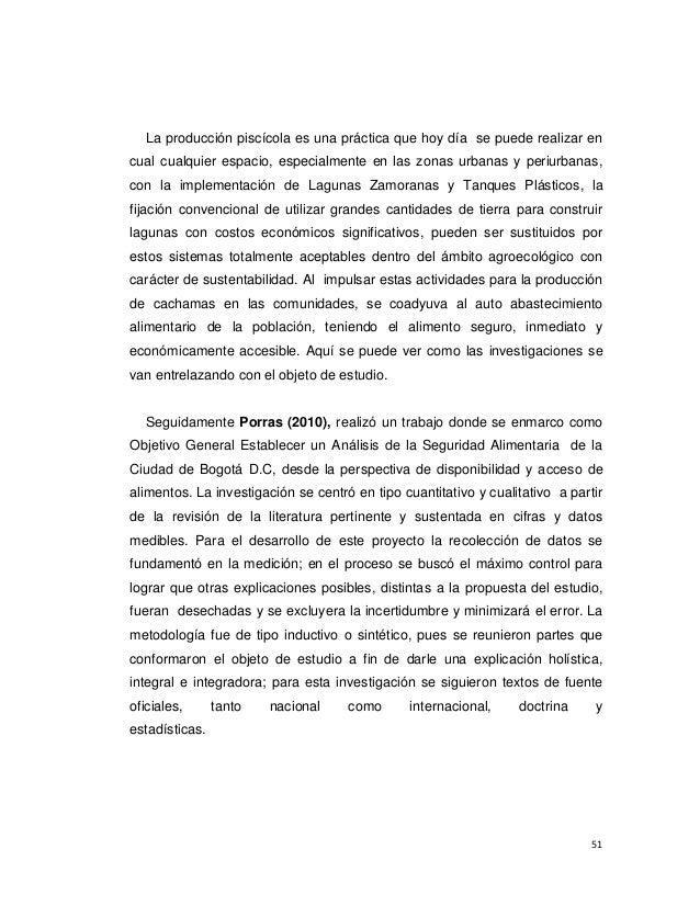 Plan de abastecimiento alimentario regional en l Lagunas para cachamas