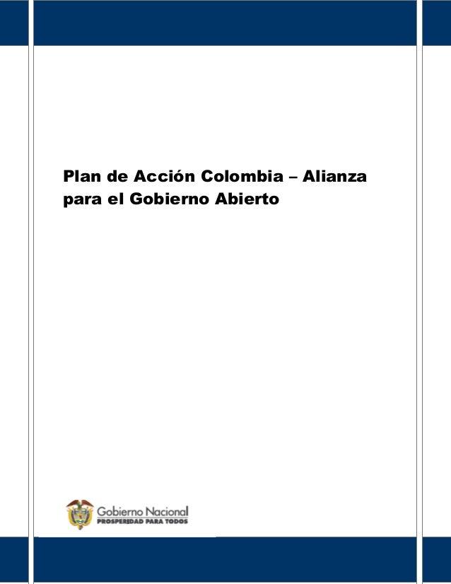 Plan de Acción Colombia – Alianza para el Gobierno Abierto