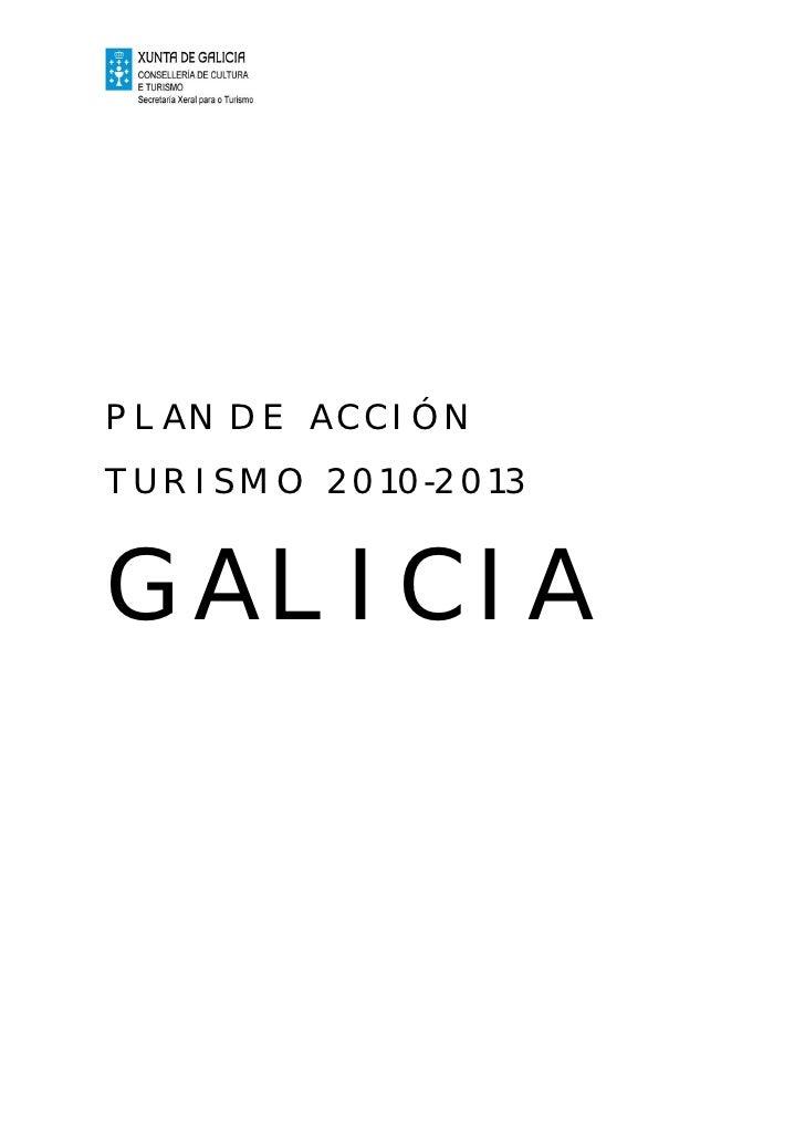 PLAN DE ACCIÓN TURISMO 2010-2013   GALICIA
