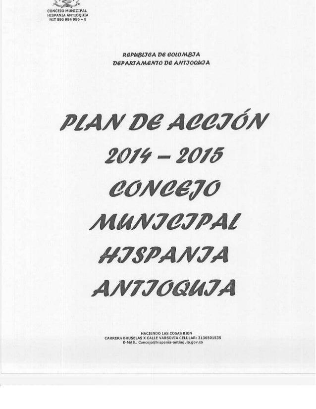 Plan de accion 2014  2015