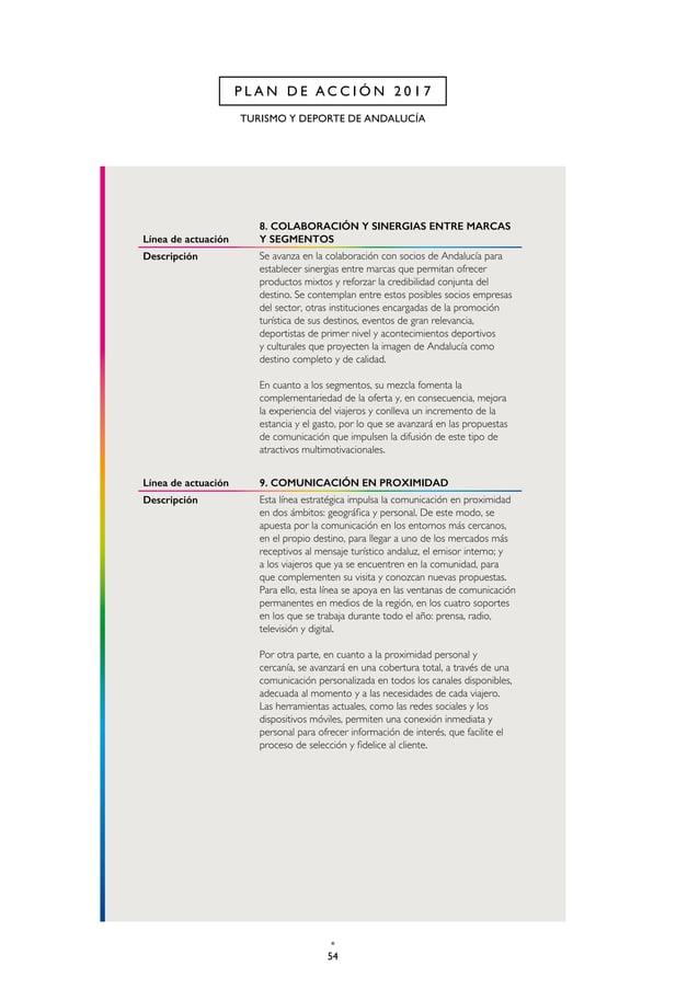 57 CAP. 2 P L A N D E A C C I Ó N 2 0 1 7 Línea de actuación 13. OFICINAS DE TURISMO EN ANDALUCÍA Y EN ESPAÑA Descripción ...