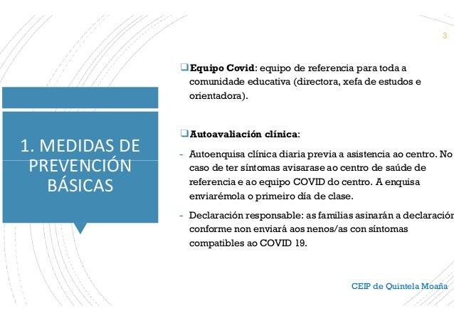 Plan de adaptación á situación Covid 21-22 Familias  Slide 3