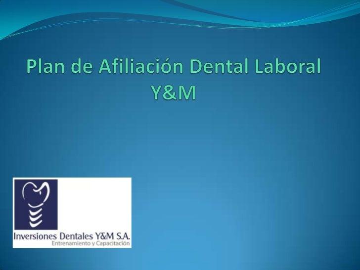 Inversiones Dentales Y&M es un grupode profesionales dedicados a la saludoral, contamos con personal altamentecalificado, ...