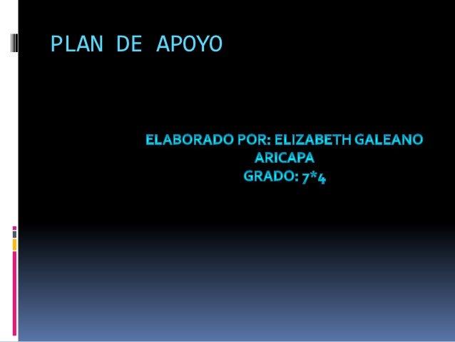 PLAN DE APOYO