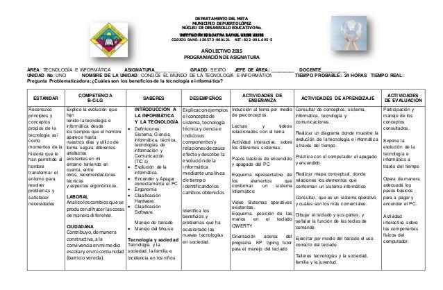 DEPARTAMENTO DEL META MUNICIPIO DE PUERTO LÓPEZ NÚCLEO DE DESARROLLO EDUCATIVO No. INSTITUCIÓN EDUCATIVA RAFAEL URIBE URIB...