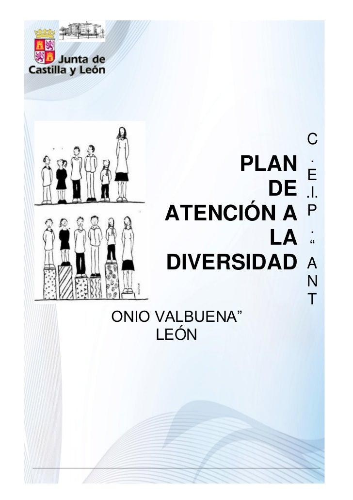 """C                   .           PLAN   E             DE   .I.     ATENCIÓN A   P                   .             LA    """"  ..."""