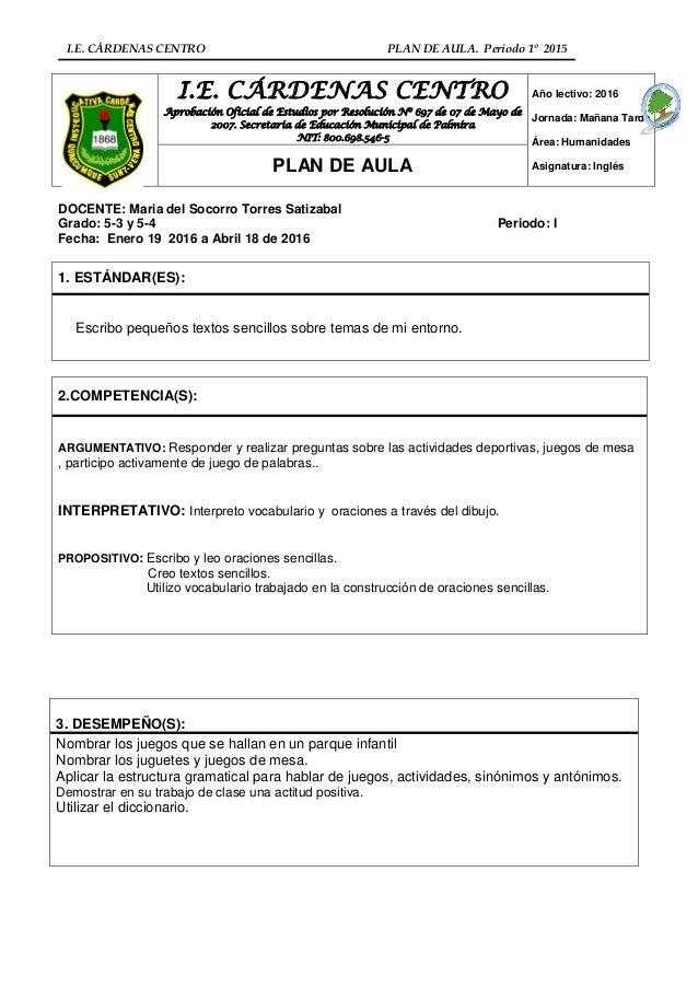 Plan de aula ingles i periodo cuarto (1)