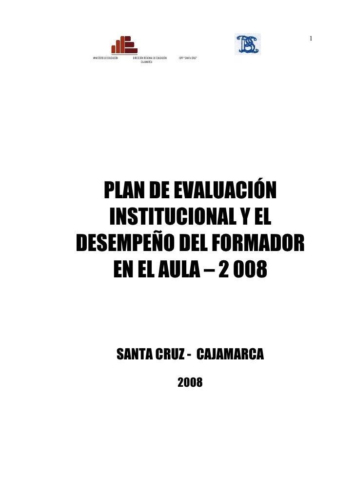 """1 MINISTERIO DE EDUCACIÓN   DIRECCIÓN REGIONAL DE EDUCACIÓN   ISPP """"SANTA CRUZ""""                                  CAJAMARCA..."""