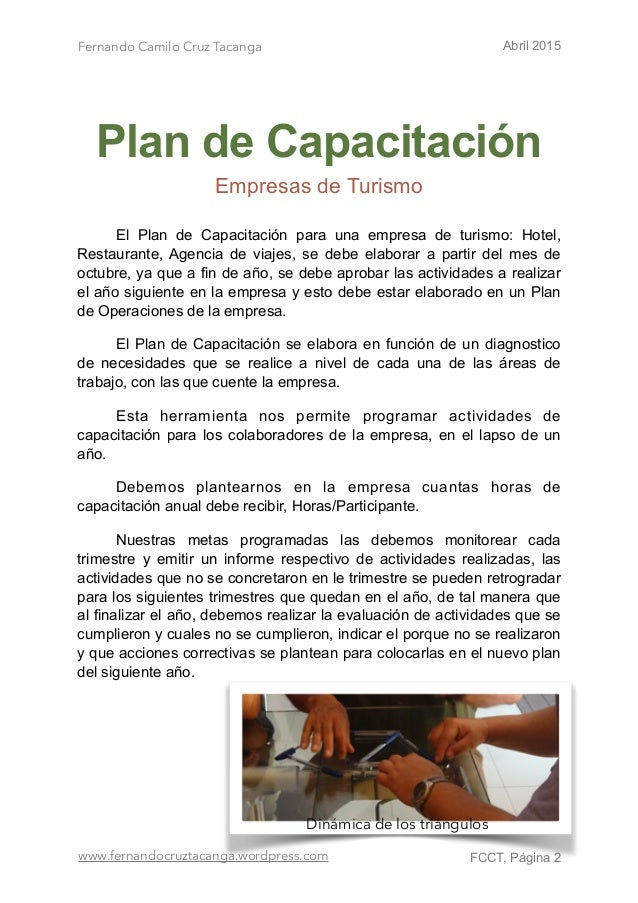 Plan de capacitaci n ok for Capacitacion para restaurantes pdf