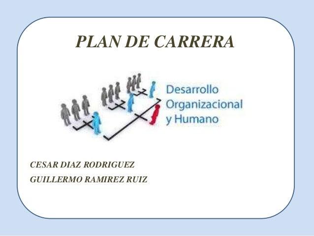 PLAN DE CARRERACESAR DIAZ RODRIGUEZGUILLERMO RAMIREZ RUIZ
