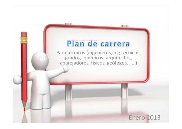 Plan de carrera ingeniero for Plan de arquitectura