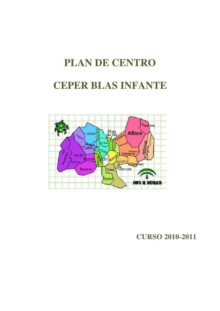 PLAN DE CENTROCEPER BLAS INFANTE             CURSO 2010-2011