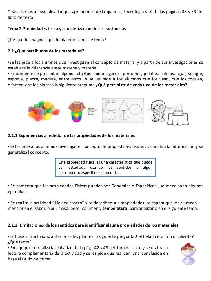 Plan de ciencias 3 bloque 1 las caracteristicas de los for Libro la quimica y la cocina pdf